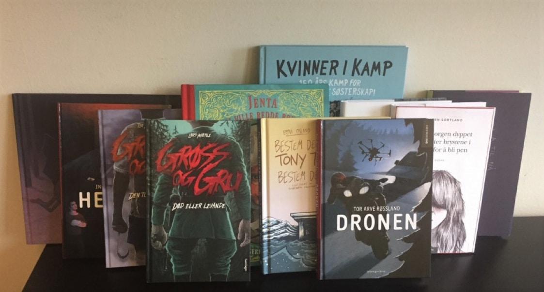 Et utvalg bøker fra Leser søker bok